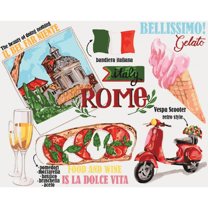 Картина по номерам Идейка - Краски Рима 40x50 см (КНО5529)