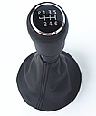 Ручка кпп с чехлом кулисы 6 ступеней VW Volkswagen Transporter T5 чёрная, фото 4