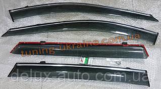 Дефлекторы окон (ветровики) AVTM-Tuning с хром молдингом на Toyota Camry XV40 2006-2011