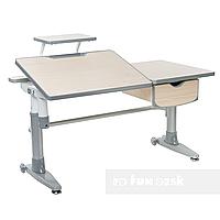 Парта-трансформер для школьника FunDesk Ballare Grey с выдвижным ящиком, фото 1