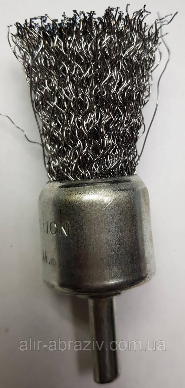 Щетки по металлу для дрели концевая гофрированная 25 х 6