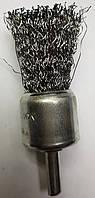 Щетки по металлу для дрели концевая гофрированная 25 х 6, фото 1