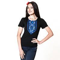 Футболка женская с вышивкой. Подолянка Синя, фото 1