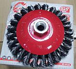 Щітка конусна 115 * 22,2 (пучки кручений дроту), фото 2