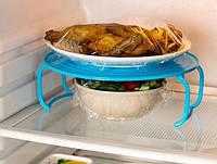 Полка 4 в 1, подставка в СВЧ, в холодильник, лоток для блюд