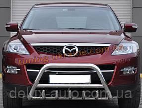 Защита переднего бампера кенгурятник из нержавейки на Mazda CX-9 2006-2012