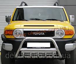 Защита переднего бампера кенгурятник из нержавейки на Toyota FJ Cruiser 2006