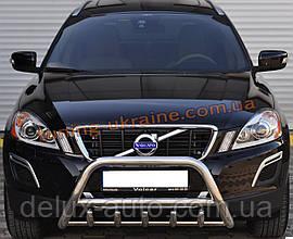 Защита переднего бампера кенгурятник из нержавейки на Volvo XC60 2008-2013