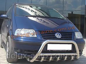Защита переднего бампера кенгурятник из нержавейки на Volkswagen Sharan 1995-2010/2010+