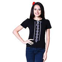 Женская вышитая футболка. Берегиня серая., фото 1