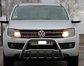 Защита переднего бампера кенгурятник из нержавейки на Volkswagen Amarok 2010