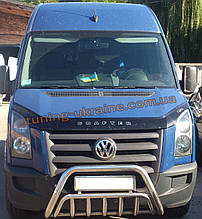 Защита переднего бампера кенгурятник из нержавейки на Volkswagen Crafter 2006-2016