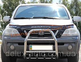 Защита переднего бампера кенгурятник из нержавейки на Kia Sorento 2002-2009