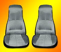 Комплект из двух передних сидений на ВАЗ 2101-2107 черно-серый материал