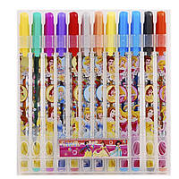 "Ручки 8002-12P гелеві набір 12цветов ""Princess"" PVC"