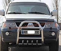 Защита переднего бампера кенгурятник из нержавейки на Mitsubishi Pajero Sport 1998-2008, фото 1