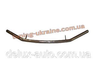 Защита переднего бампера труба одинарная из нержавейки на Kia Sportage 2004-2010