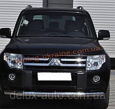 Защита переднего бампера труба одинарная из нержавейки на Mitsubishi Pajero Wagon 2006-2014