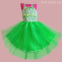 Детское платье зеленого цвета