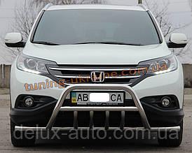 Защита переднего бампера кенгурятник с усами из нержавейки на Honda CR-V 2012-2015