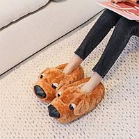 Домашние тапочки женские Собака Brown