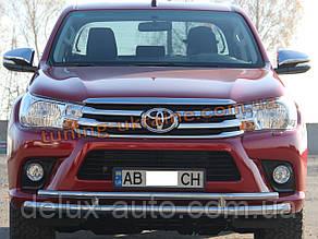 Дуга двойная передняя из нержавейки на Toyota Hilux 2015