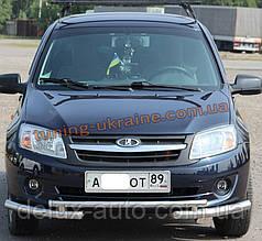 Дуга передняя с уголками из нержавейки на Ваз 2190 Lada Granta 2011