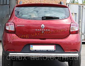 Защита заднего бампера труба одинарная из нержавейки на Dacia Stepway 2013