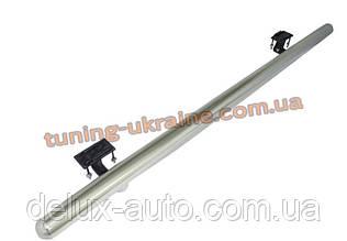 Защита заднего бампера труба одинарная из нержавейки на Mitsubishi Outlander 2012-2014