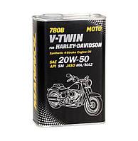 Спеціальнасинтетичнаолива MANNOL 7808 V-Twin for Harley-Davidson API SM 1л.