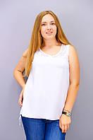 Аделина. Блузка больших размеров. Белый., фото 1