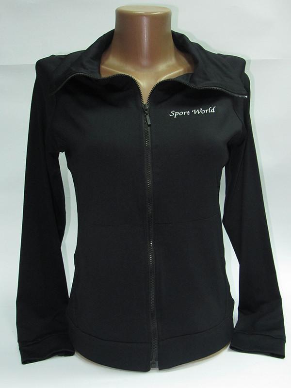 Женская спортивная кофта на молнии с длинным рукавом