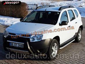 Боковые площадки из алюминия BlackLine для Dacia Duster 2010
