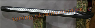 Боковые площадки из алюминия Allmond Led для Dacia Sandero 2007-2013