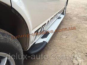 Боковые площадки из алюминия Bosphorus Grey для Fiat Scudo 2014 Short