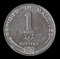 Монета Мальдив 1 руфия 2012 г.