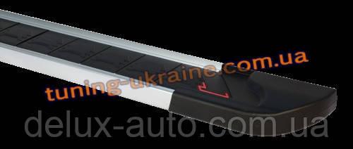 Боковые площадки из алюминия RedLine V1 для Hyundai Santa Fe 2010-2013