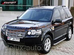 Боковые площадки из алюминия BlackLine для Land Rover Discovery 2004-2009