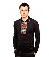 Мужская вышитая футболка крестиком «Поло» , фото 1