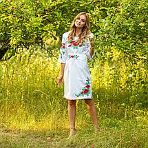 Женское белое платье вышиванка с маками Соломия, фото 3