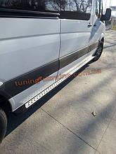 Боковые площадки из алюминия DOT-Line для Mercedes Sprinter 2013 Middle