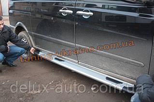 Боковые площадки из алюминия Bosphorus Grey для Mercedes Vito 2010-2014 Middle