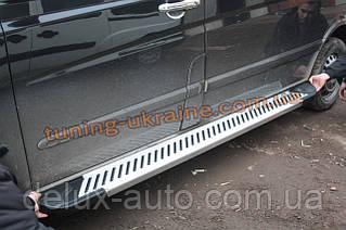 Боковые площадки из алюминия Line для Mercedes Vito 2010-2014 Middle