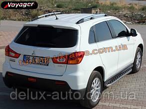 Боковые площадки из алюминия BlackLine для Mitsubishi ASX 2010-2012
