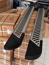 Боковые площадки из алюминия Line для Mitsubishi L200 2006-2012