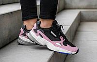 """Женские кроссовки Adidas Originals Falcon W """"Core Black Light Pink"""""""