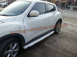 Боковые площадки из алюминия Omsa WhiteLine для Nissan Juke 2010-2014