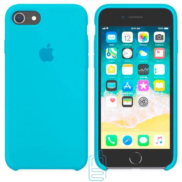 Чехол Silicone Case Apple iPhone 7. 8 голубой 16