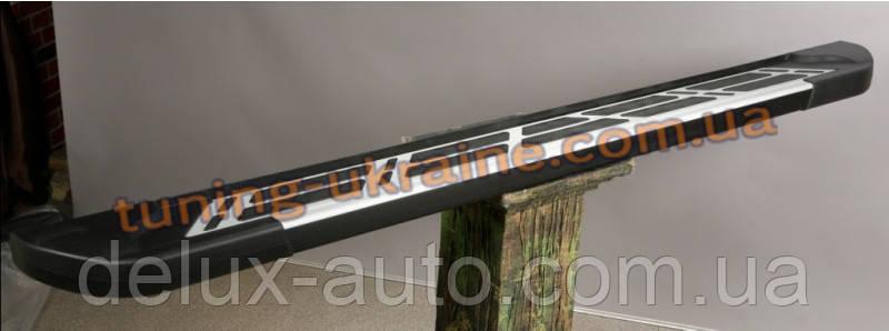 Боковые площадки из алюминия Sunrise для Nissan Navara D22 1997-2005