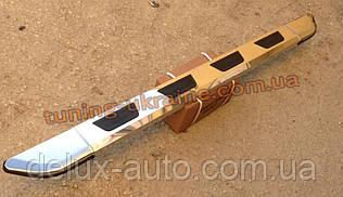 Боковые площадки из алюминия Vison для Nissan Navara D22 1997-2005